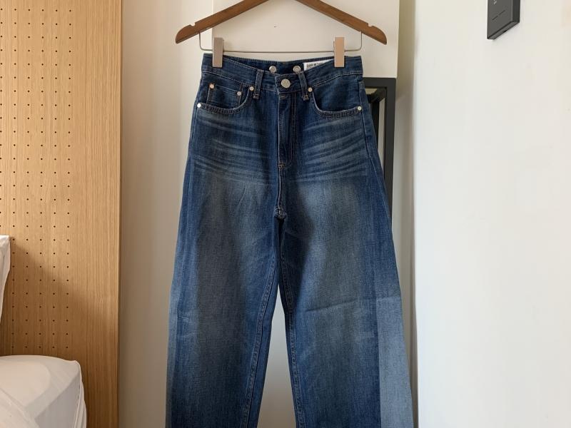 完美牛仔大寬褲