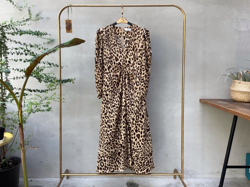 韓系小姊姊豹紋洋裝