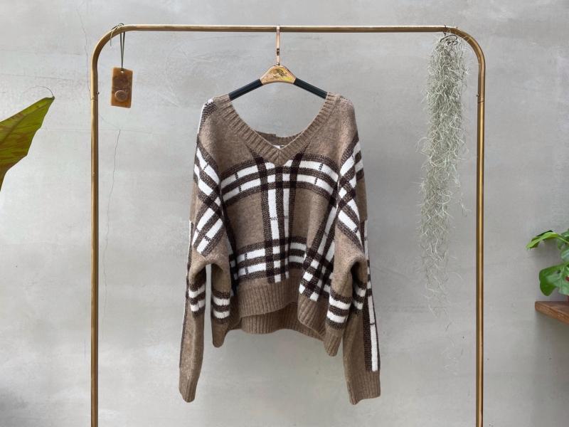 設計款格紋毛衣